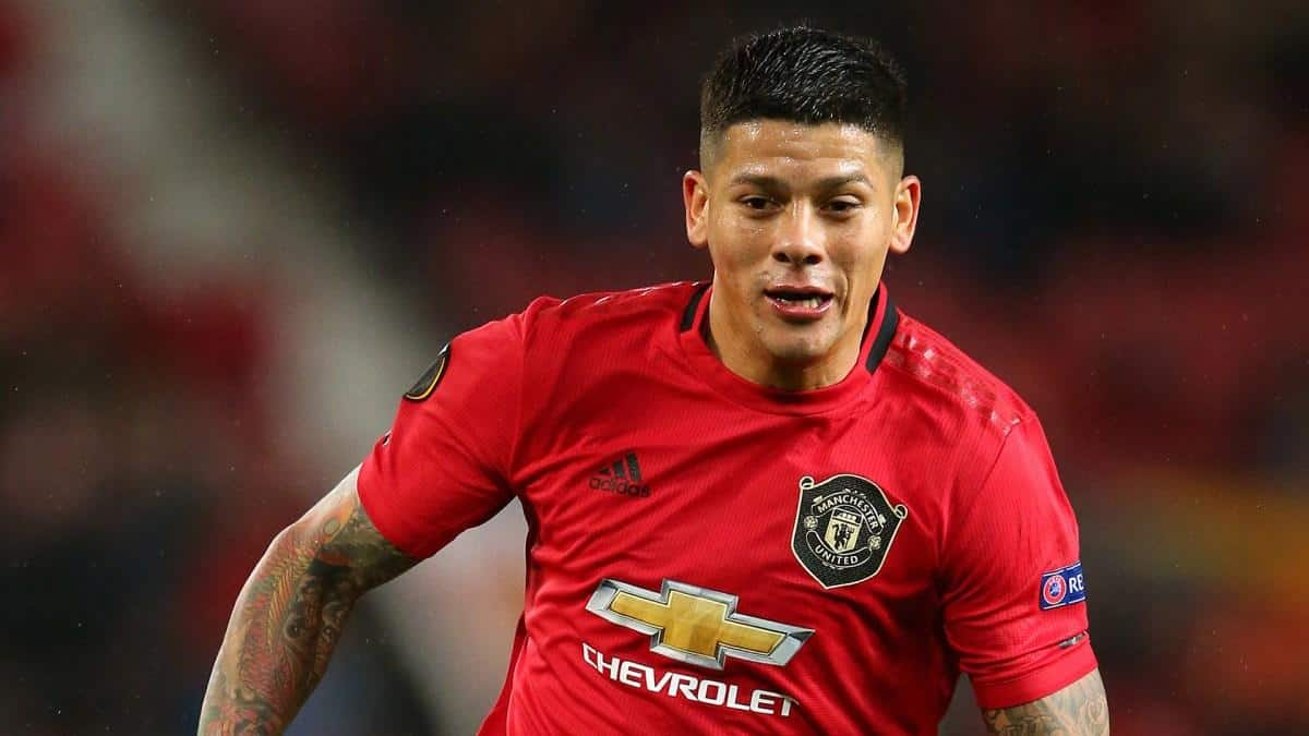 Marcos Rojo in action for Man Utd