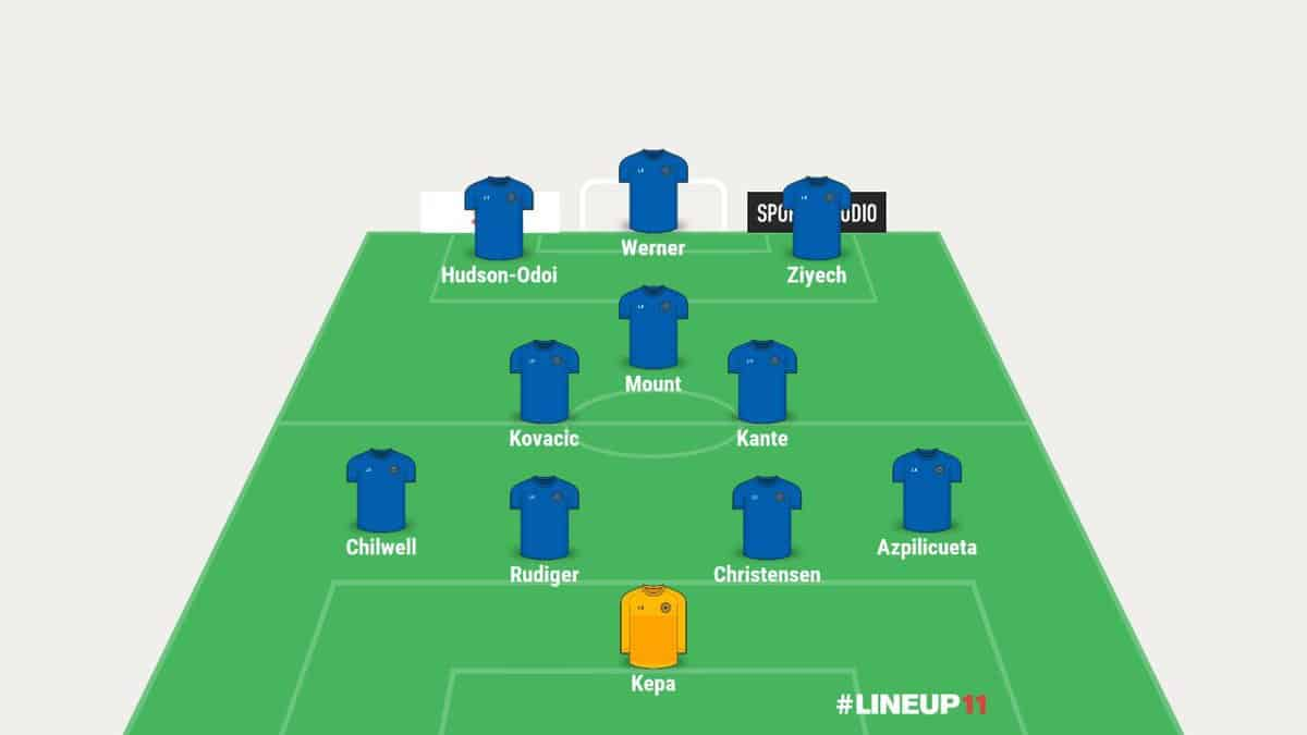 Chelsea predicted line-up 3 by VBET