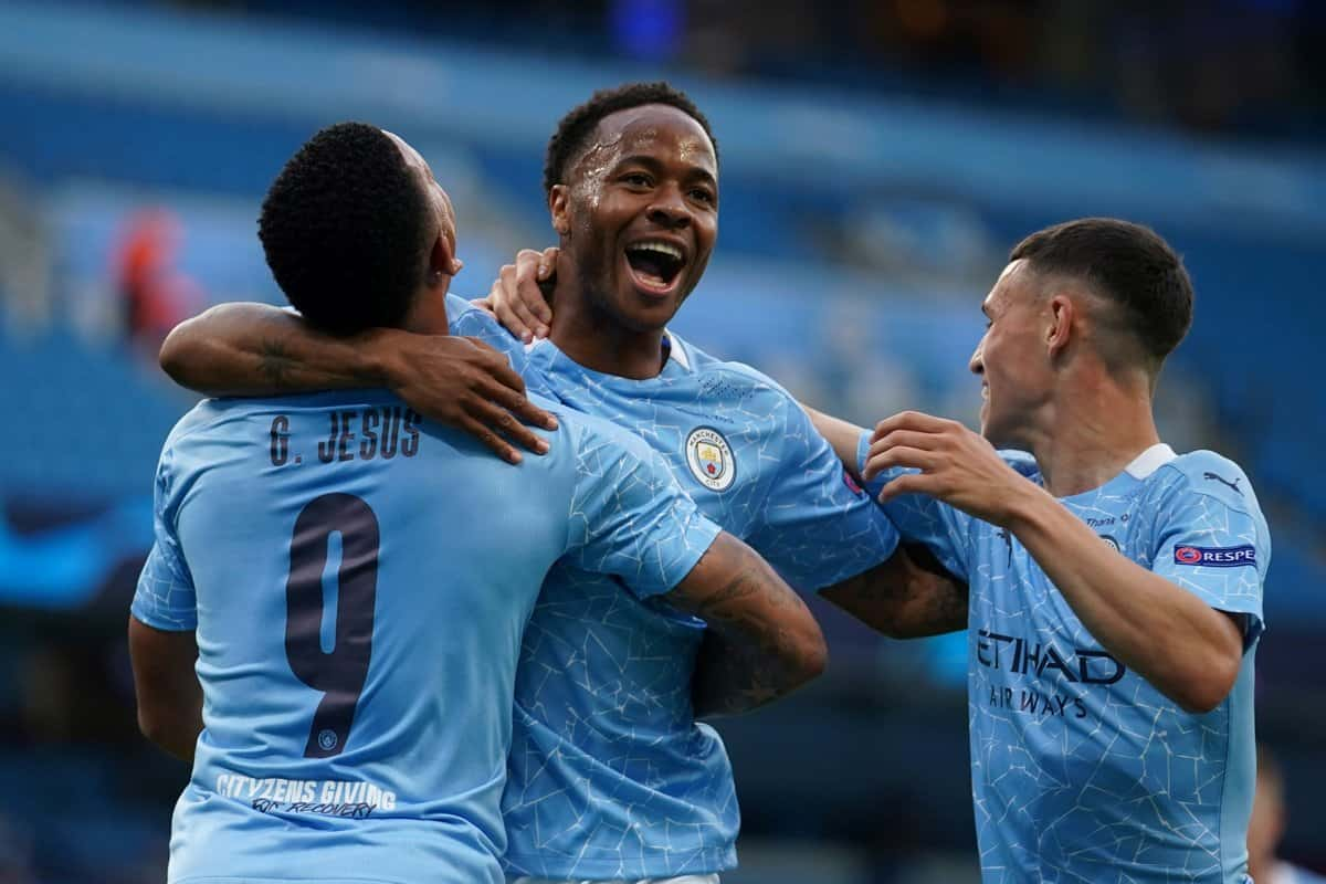 Raheem Sterling scores for Manchester City
