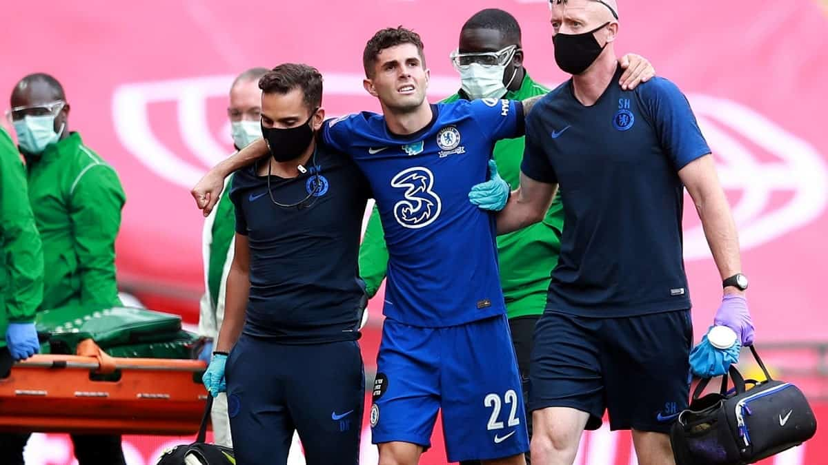 Chelsea star Christian Pulisic injured