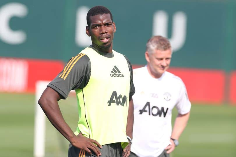 Paul Pogba during Man Utd training