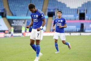 Demarai Gray in action for Leicester City
