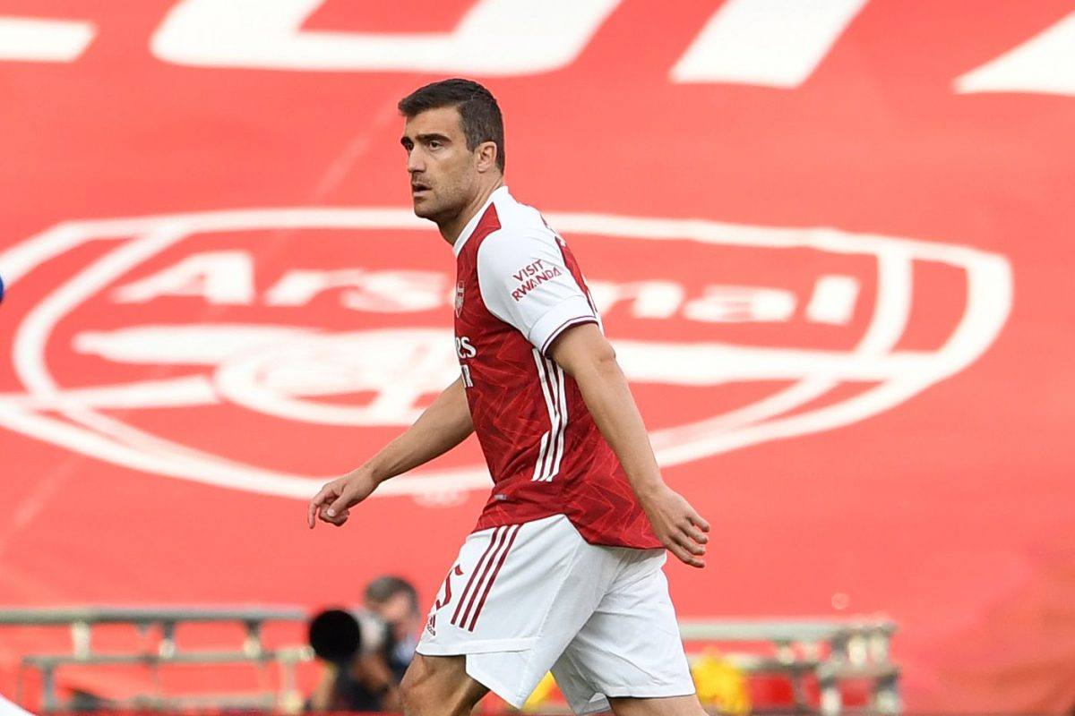 Sokratis in action for Arsenal