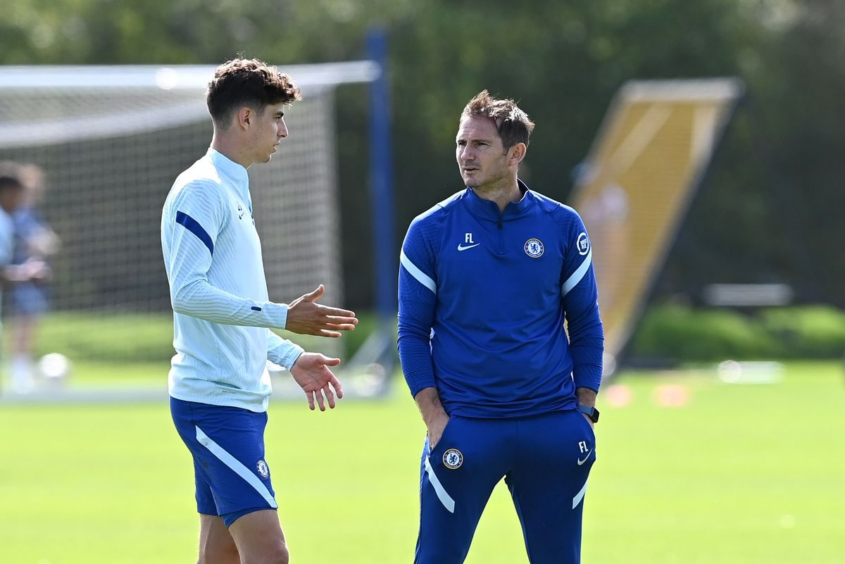 Chelsea fans will love the moment spotted between Kai Havertz and Frank Lampard