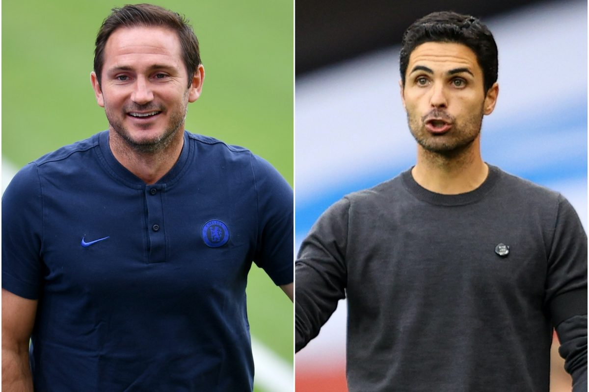 Chelsea manager Frank Lampard and Arsenal manager Mikel Arteta