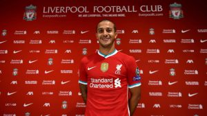 Thiago signs for Liverpool