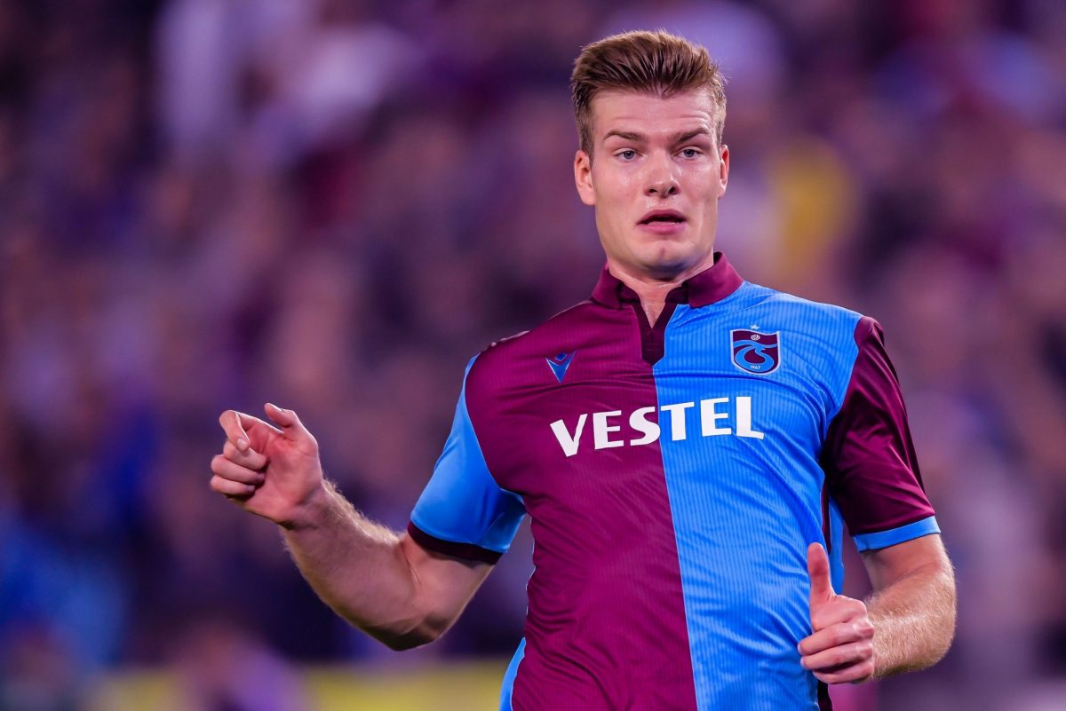 Alexander Sorloth in action for Trabzonspor