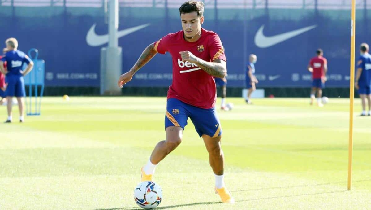 Philippe Coutinho during Barcelona training