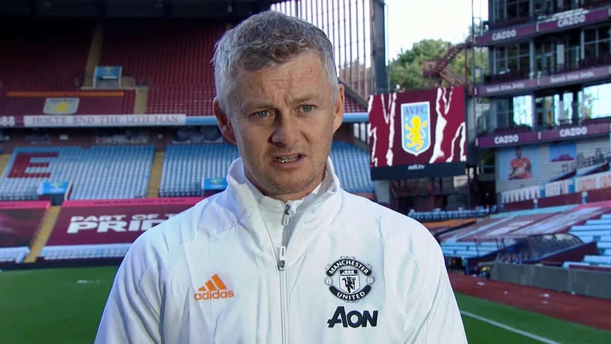 Ole Gunnar Solskjaer reacts to Villa loss