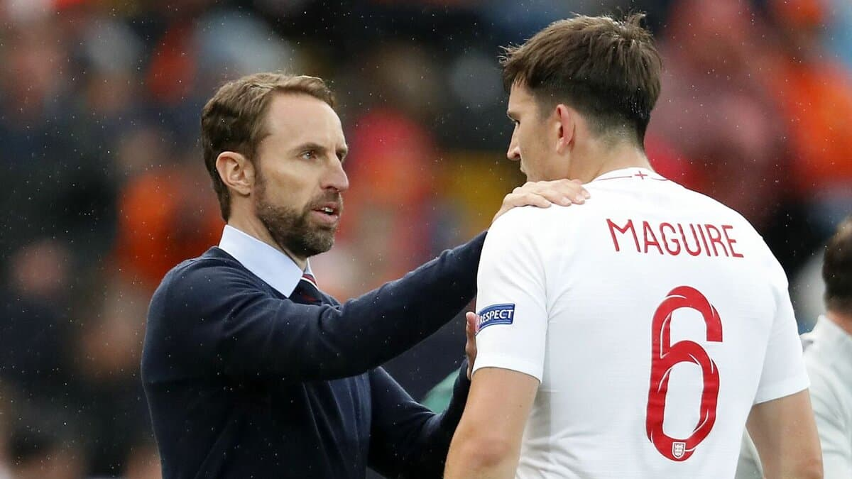 Gareth Southgate and Harry Maguire