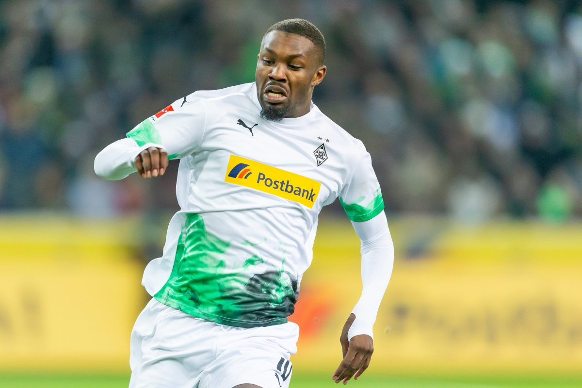 Marcus Thuram in action for Borussia Mönchengladbach