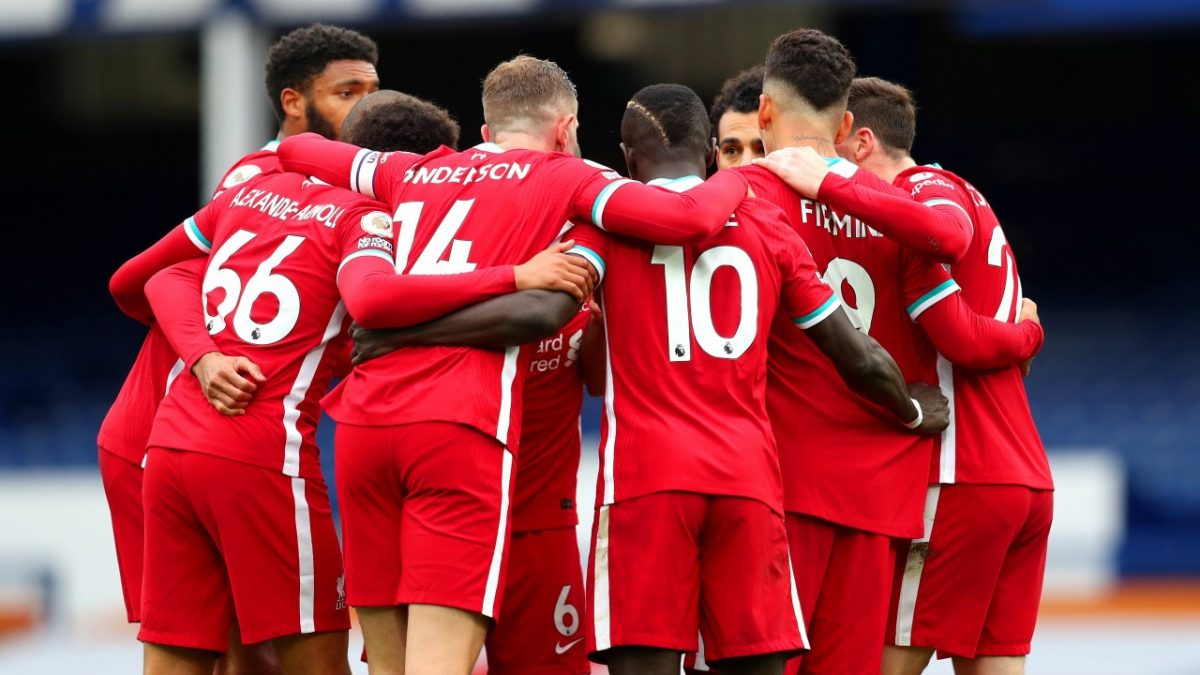 Liverpool players ahead of Premier League game