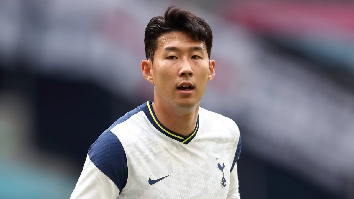 Son Heung-min in action for Tottenham