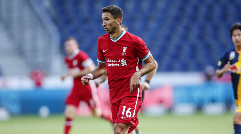 Marko Grujic in action for Liverpool