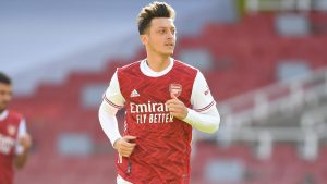 Mesut Ozil of Arsenal during a pre season friendly between Arsenal and Aston Villa at Emirates Stadium on September 05, 2020 in London, England.