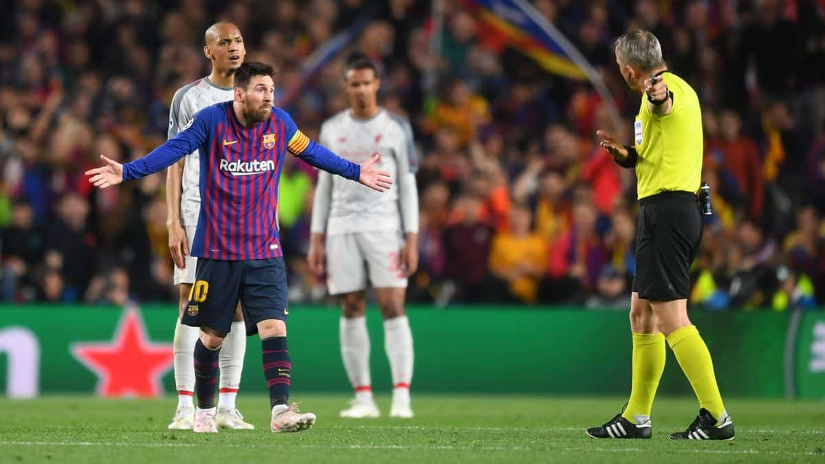 How Lionel Messi responded when referee told him to show Liverpool some respect
