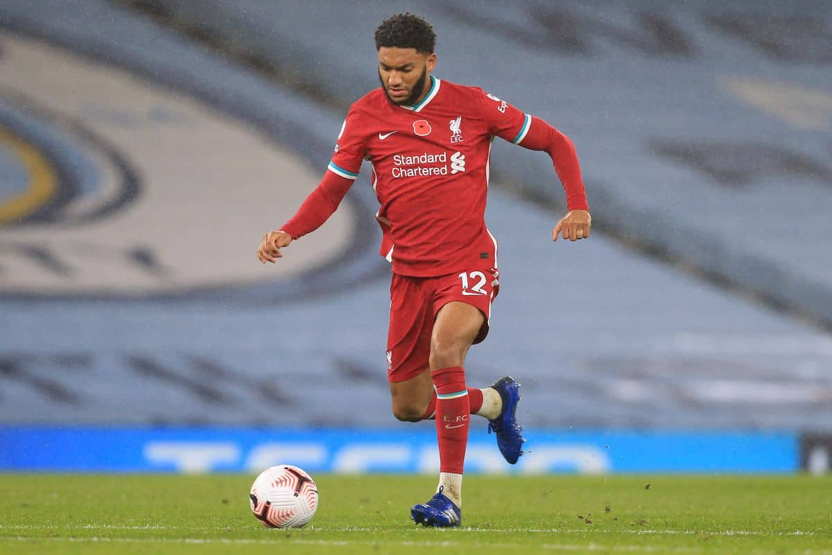 Joe Gomez in action for Liverpool
