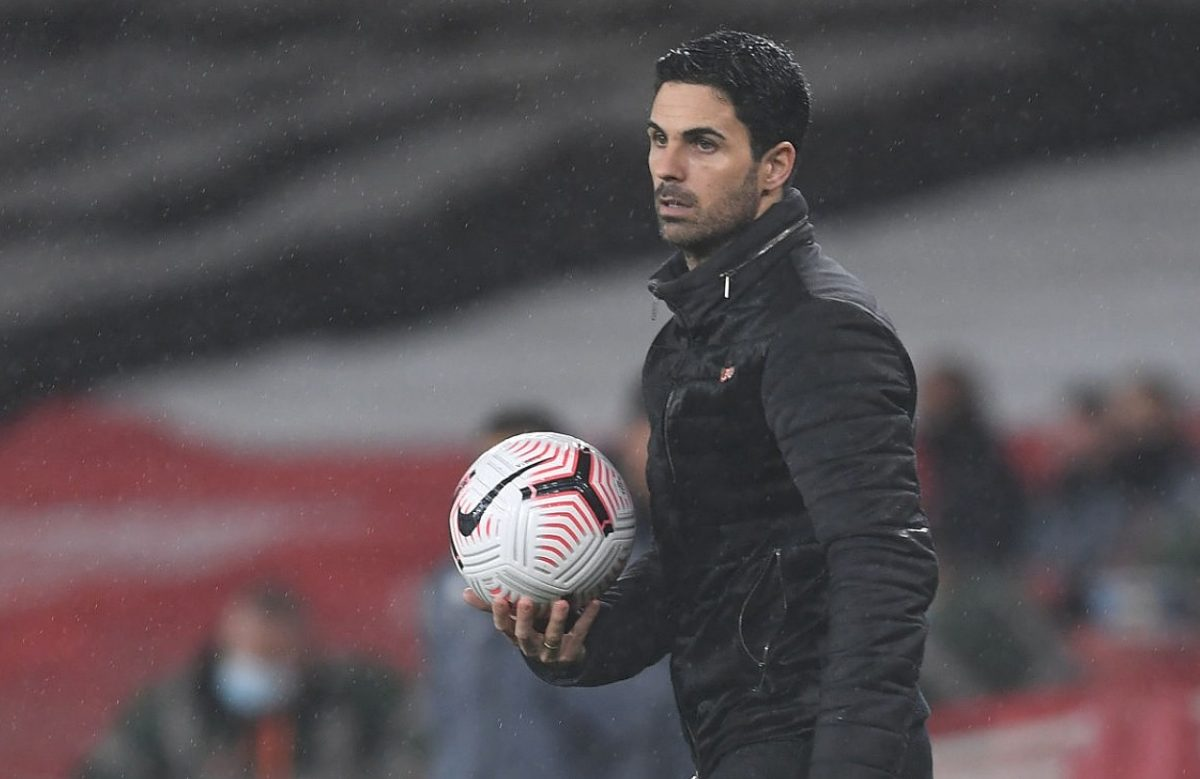 Arsenal manager Mikel Arteta during the Premier League match between Arsenal and Aston Villa at Emirates Stadium