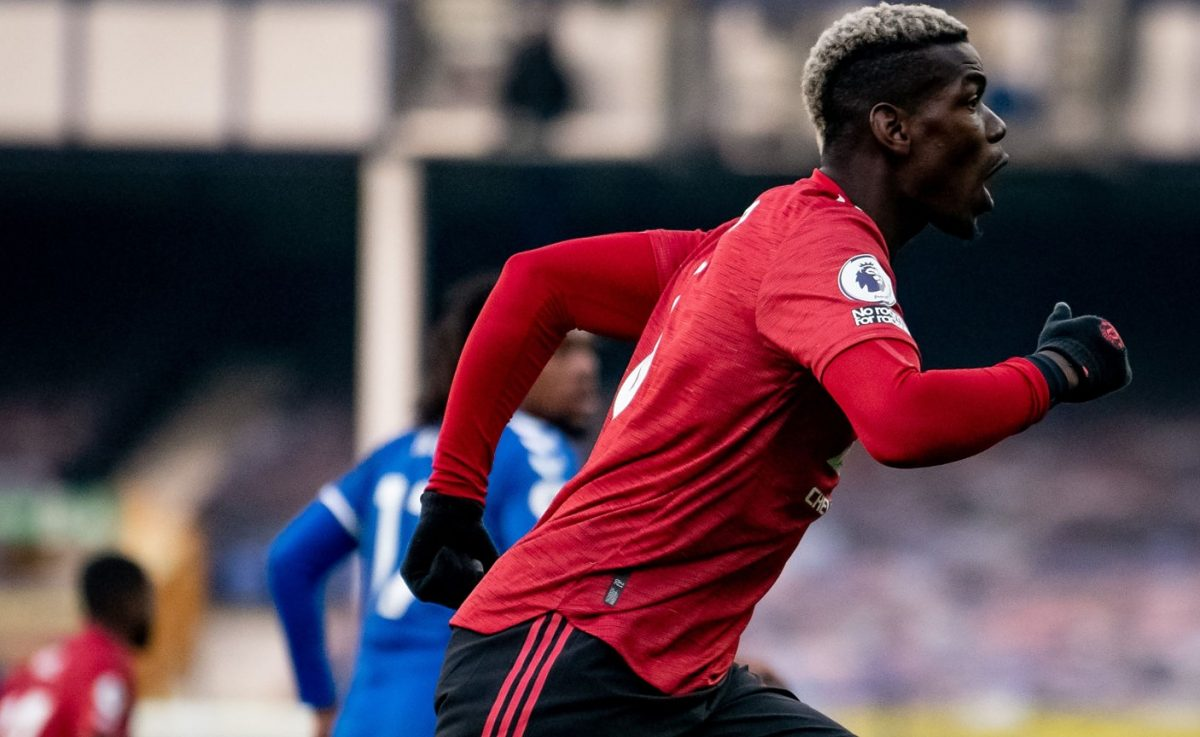 Paul Pogba of Manchester United in action during the Premier League match