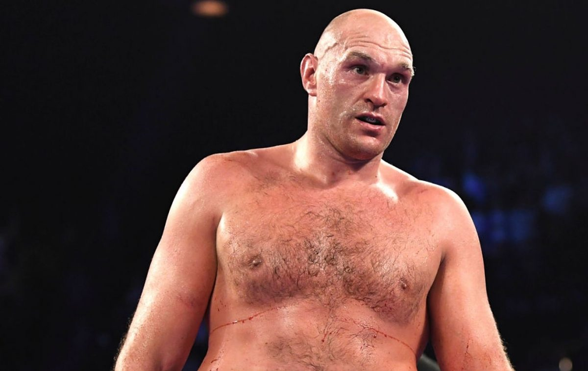 Tyson Fury during fight vs Deontay Wilder