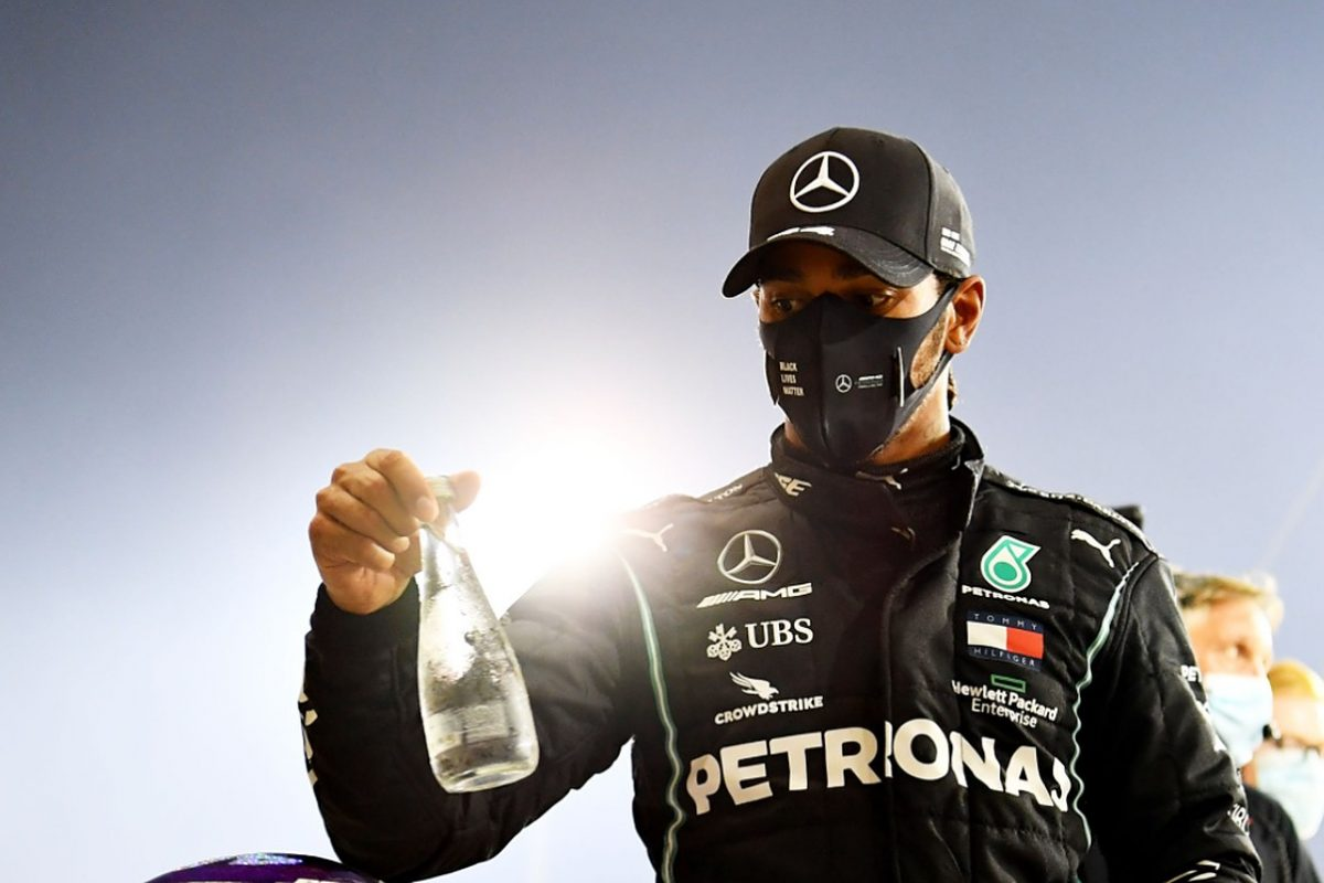 Race winner Lewis Hamilton of Great Britain and Mercedes GP