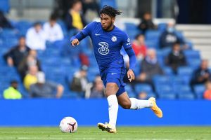 Reece James of Chelsea during the pre-season friendly between Brighton & Hove Albion and Chelsea at Amex Stadium on August 29, 2020 in Brighton, England.