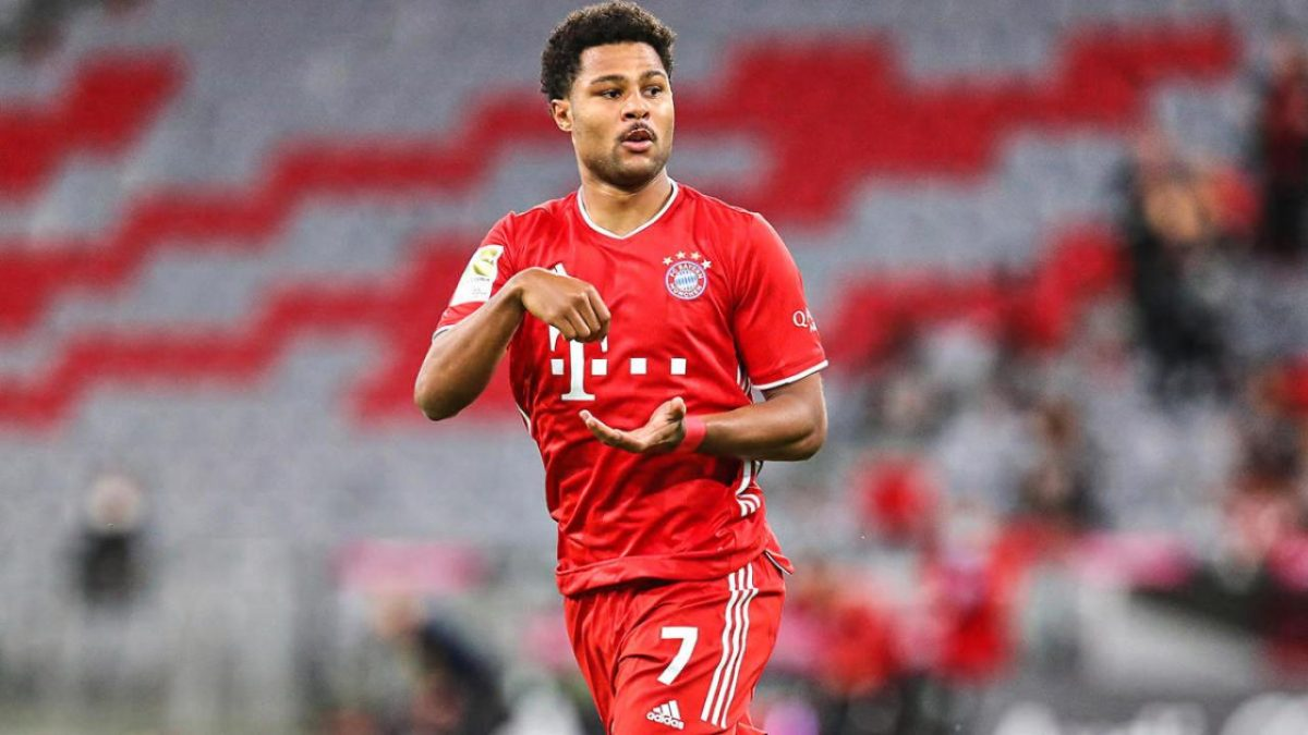 Serge Gnabry gives two-word response on his possible Arsenal return