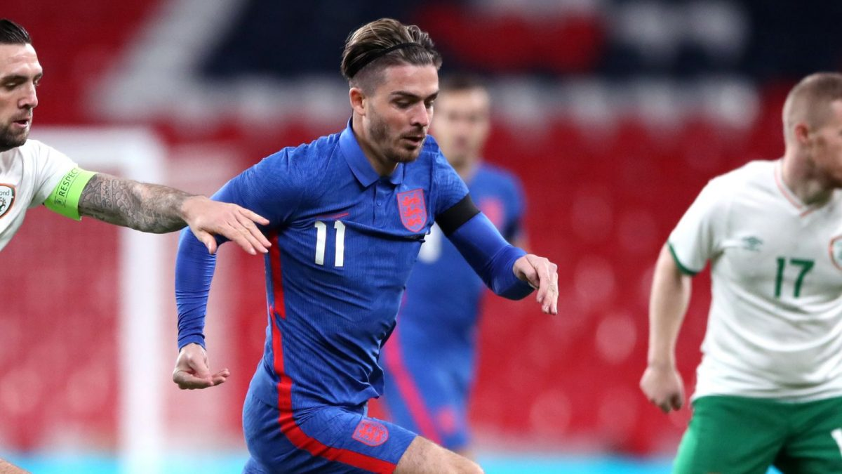 Jack Grealish in action for England national team