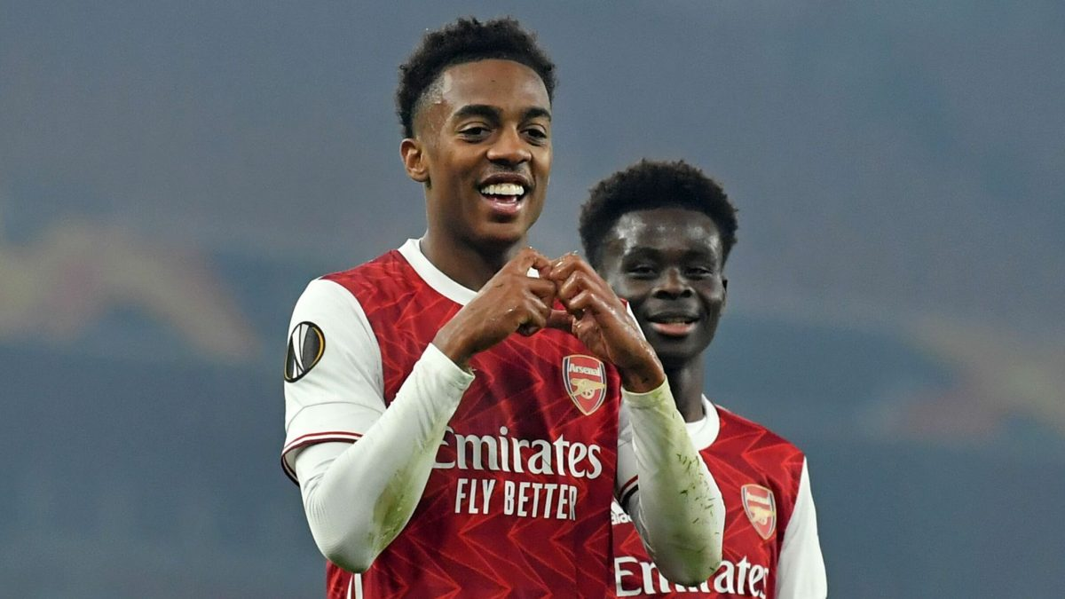 Joe Willock in action for Arsenal
