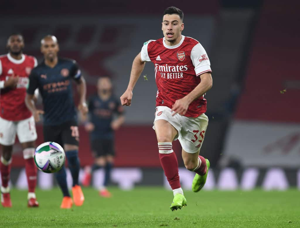 Gabriel Martinelli in action for Arsenal