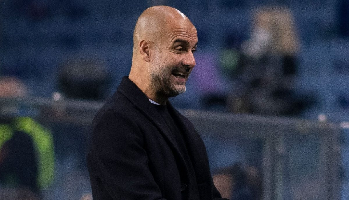Head coach Pep Guardiola of Manchester City reacts during the UEFA Champions League Group C stage match between FC Porto and Manchester City