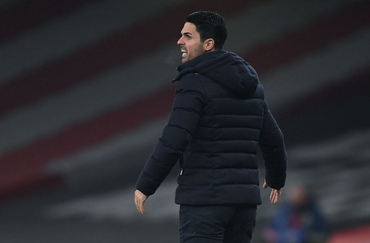 Manager Mikel Arteta of Arsenal reacts during the Premier League match between Arsenal and Wolverhampton Wanderers