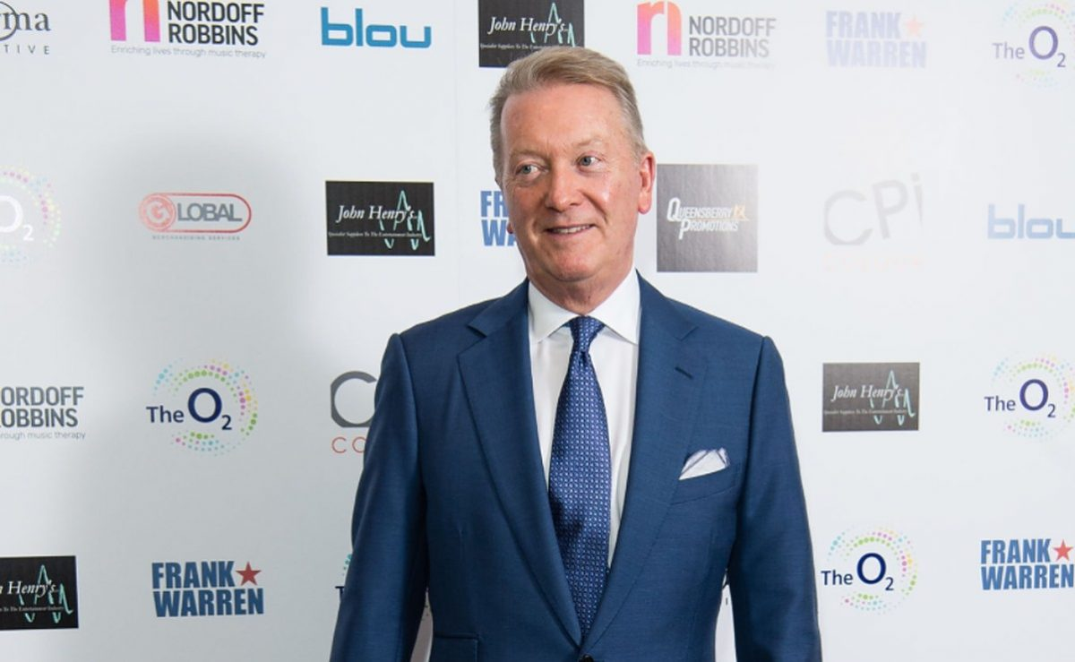 Frank Warren attends the Nordoff Robbins Boxing Dinner 2019