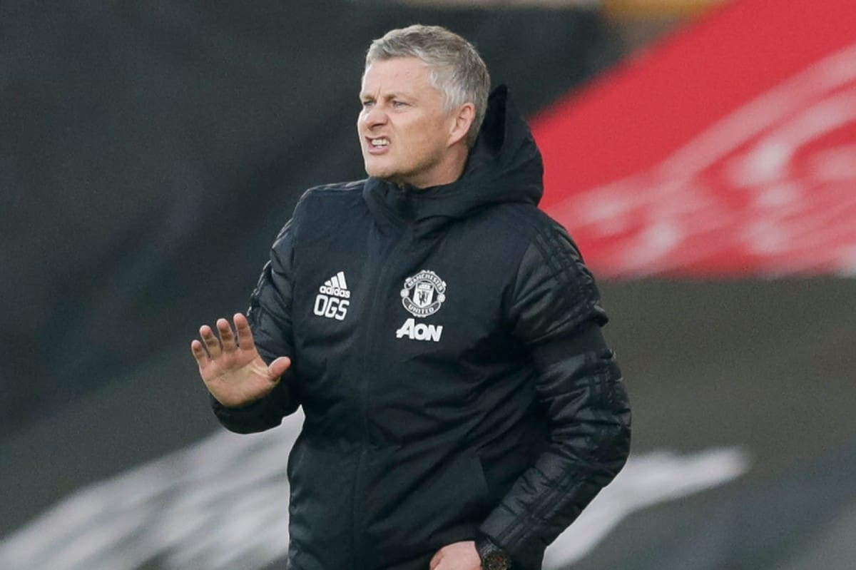Ole Gunnar Solakjer at Manchester United game