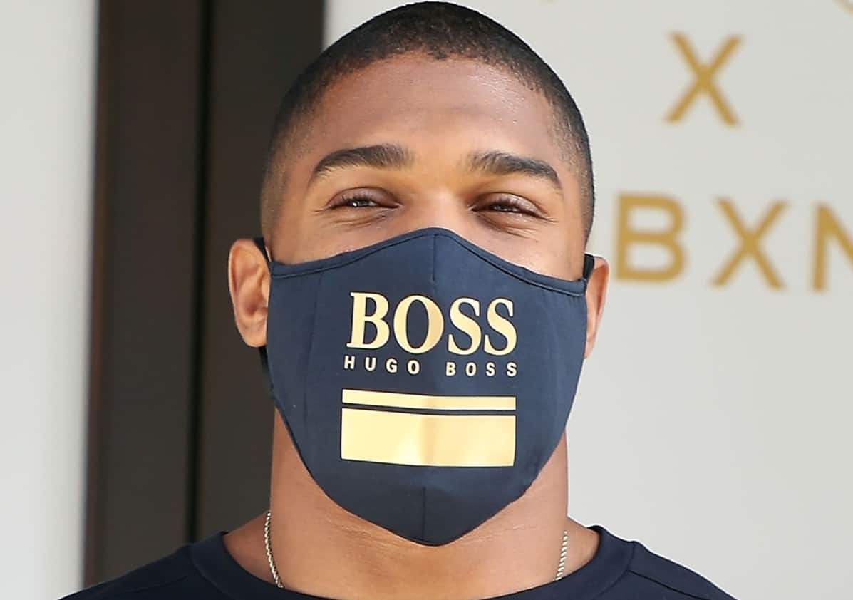 Anthony Joshua at the BOSS capsule collection