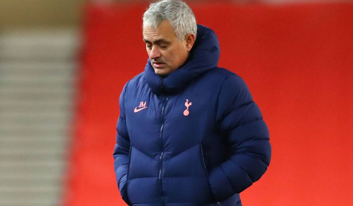 Tottenham Manager José Mourinho walks off the pitch after the Caraboa Cup Quarter Final match between Stoke City and Tottenham Hotspur
