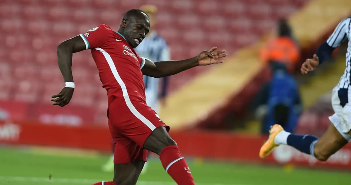Sadio Mane fires Liverpool 1-0 ahead against West Bromwich Albion