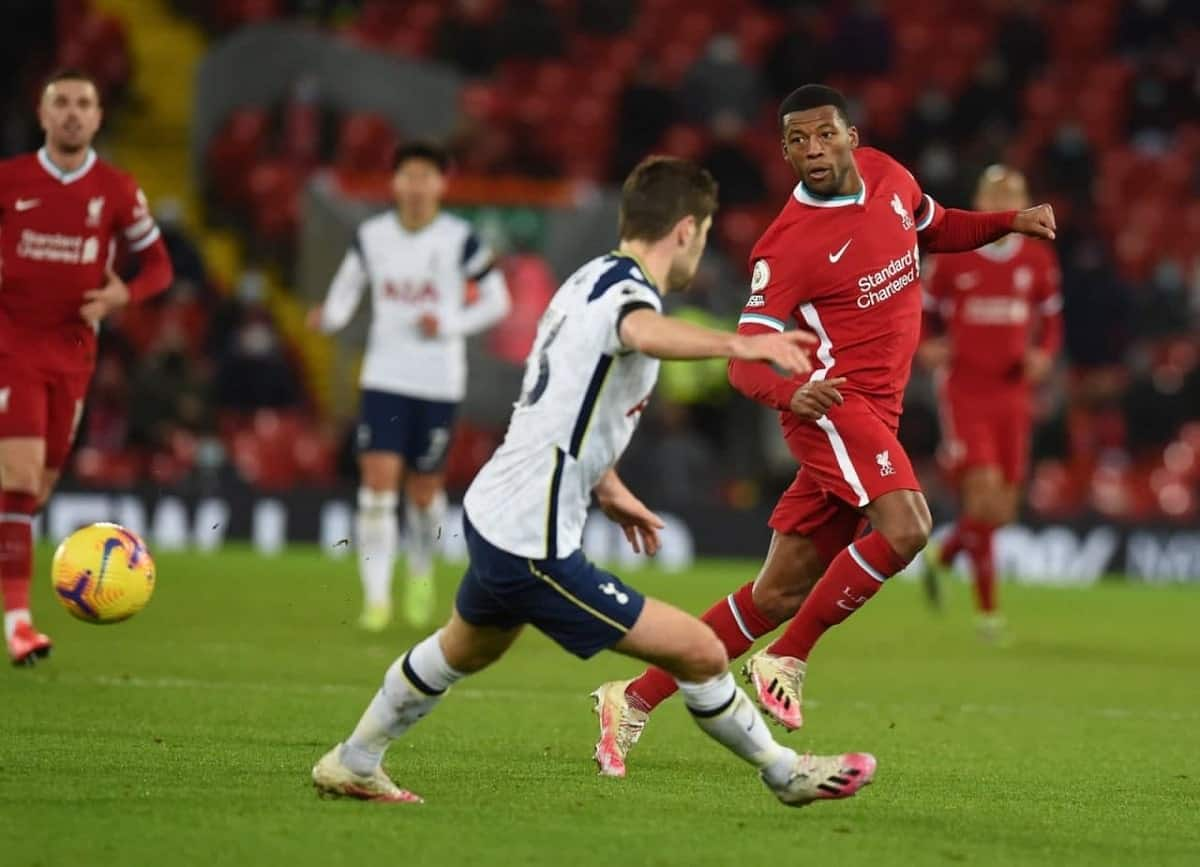 Wijnaldum in action for Liverpool