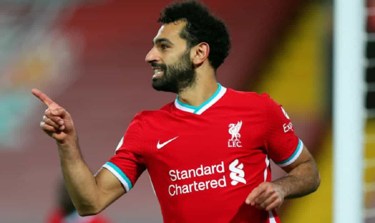Mohamed Salah in action for Liverpool in the Premier League
