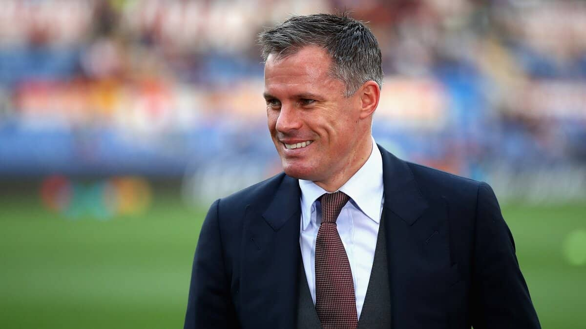 Jamie Carragher hilariously reacts to Manchester United's missed chance v Leipzig