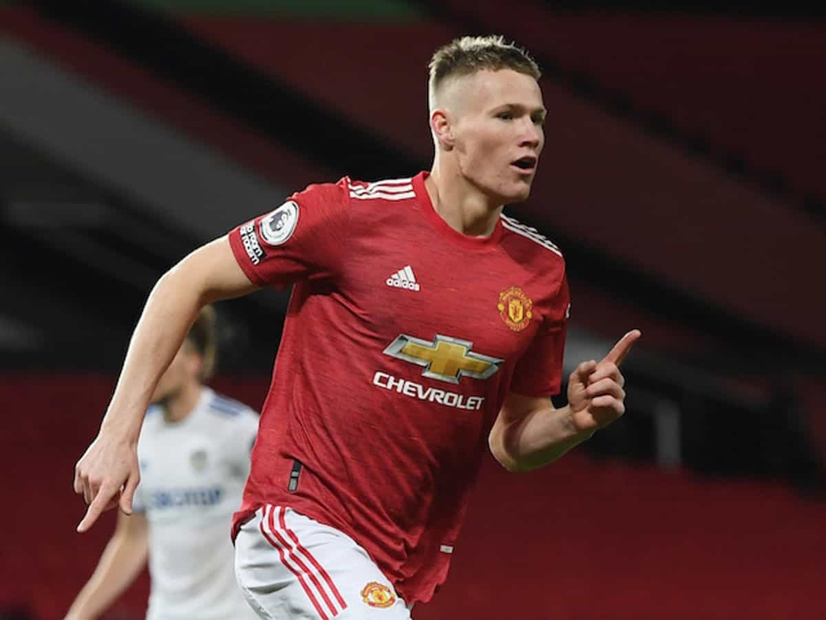 Scott McTominay in action for Manchester United against Leeds United