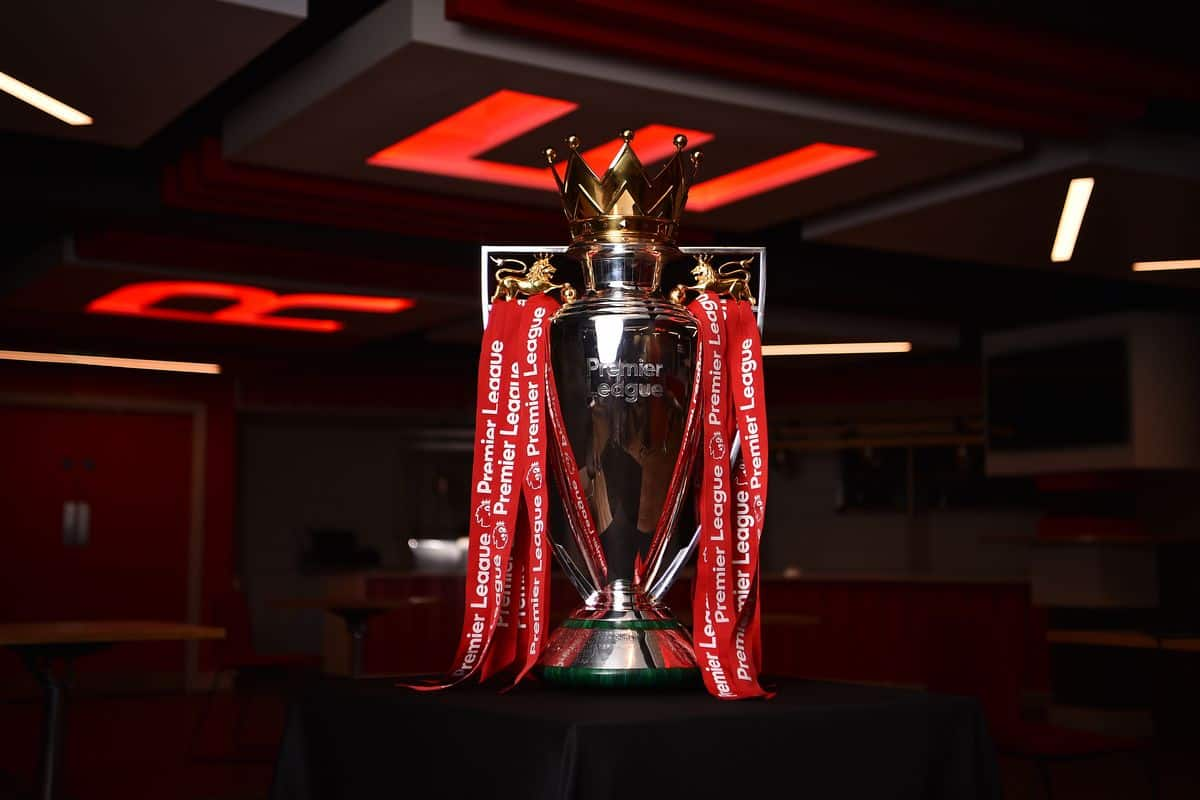 Premier League trophy for Liverpool