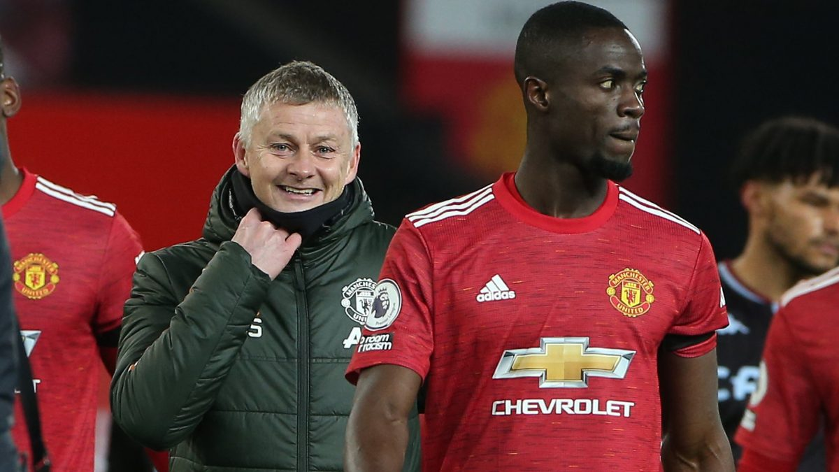 Ole Gunnar Solskjaer and Eric Bailly