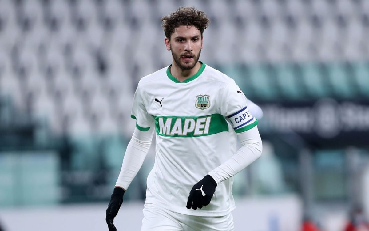 Manuel Locatelli of Us Sassuolo in action during the Serie A match between Juventus Fc and Us Sassuolo. Juventus Fc wins 3-1 over Us Sassuolo. (Photo by Marco Canoniero/LightRocket via Getty Images)