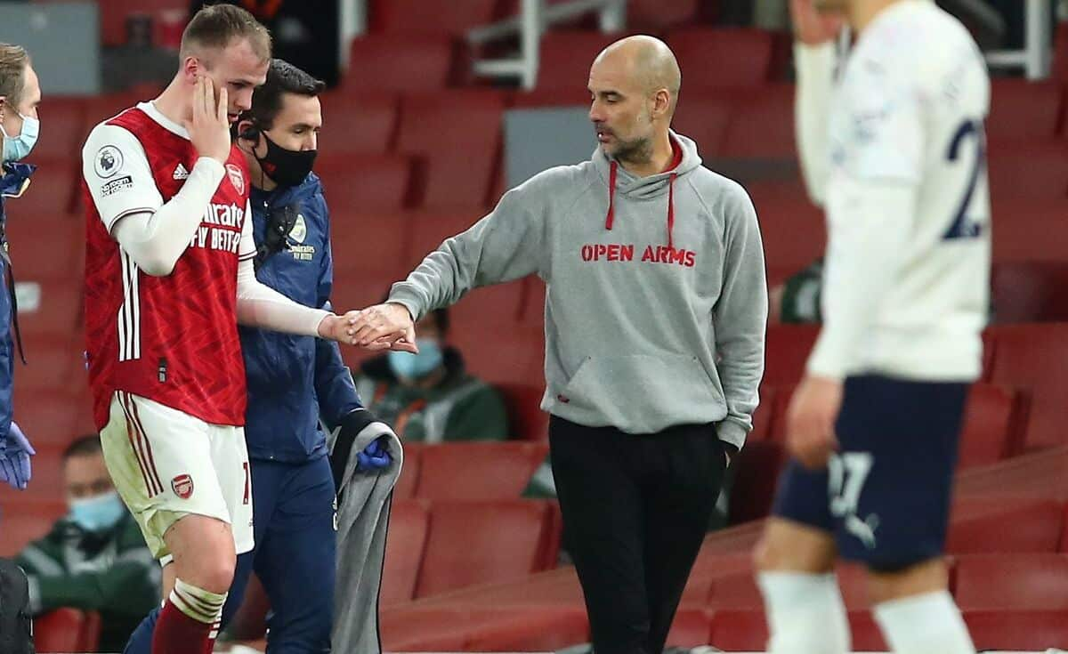 Rob Holding suffered an injury against Manchester City