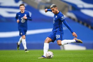 Emerson Palmieri in action for Chelsea