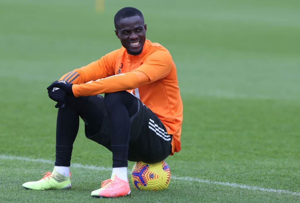 Eric Bailly during Manchester United training