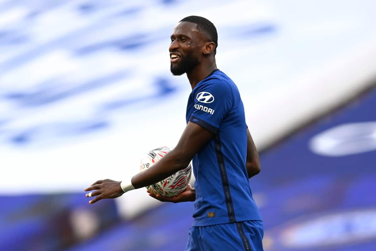 Antonio Rudiger makes contact with Chelsea transfer target