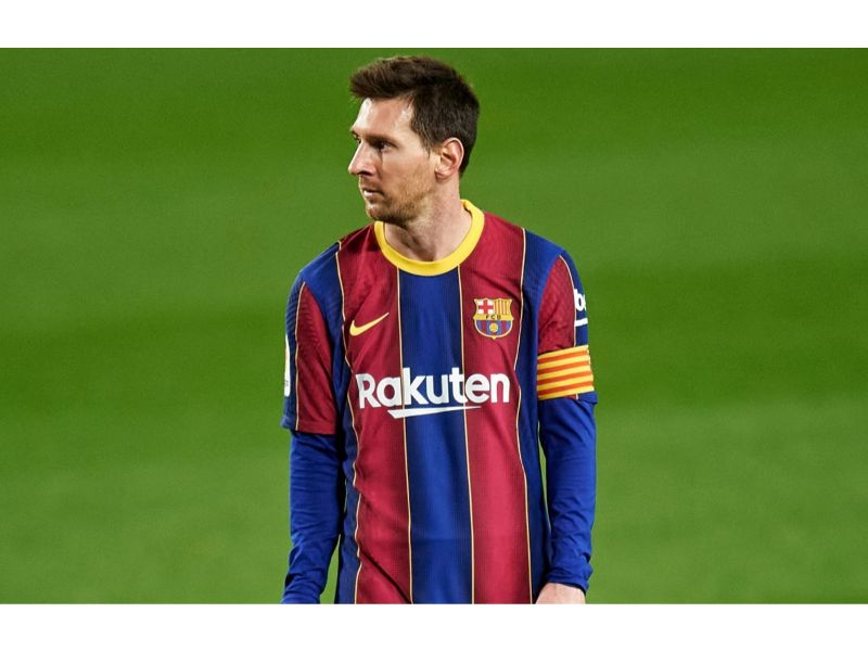 Lionel Messi of FC Barcelona during the La Liga match between FC Barcelona and Levante UD played at Camp Nou Stadium on December 13, 2020 in Barcelona, Spain. (Photo by Pressinphoto/Icon Sport via Getty Images)