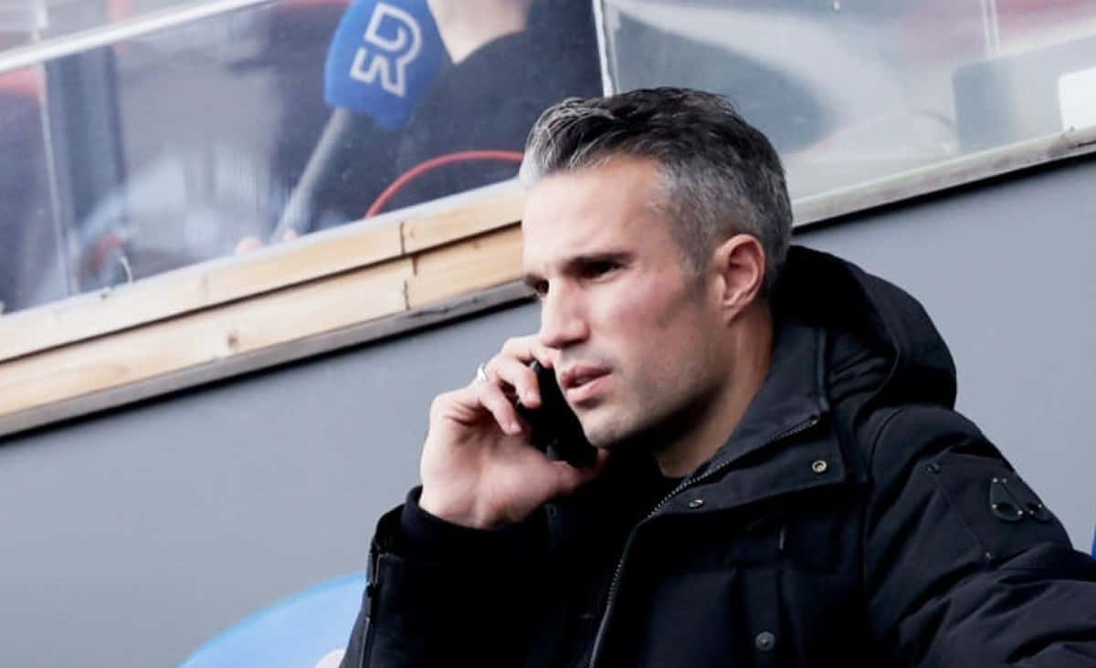 Robin van Persie of Feyenoord Rotterdam during the Dutch Eredivisie match between Feyenoord v Sparta at the Stadium Feijenoord on October 18, 2020 in Rotterdam Netherlands (Photo by Erwin Spek/Soccrates/Getty Images)